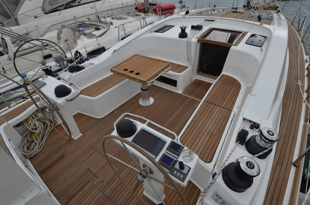 Bavaria Vision 46 has a generous cockpit for entertainment © Bavaria Yachts Australia http://www.bavariasail.com.au