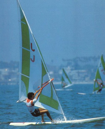 Windsurfing Comes Into The Fray - Los Angeles 1984 Olympic Sailing Competition © SW