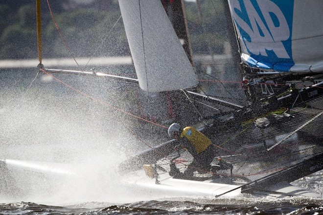 2012 Extreme Sailing Series Act 5 © Lloyd Images http://lloydimagesgallery.photoshelter.com/