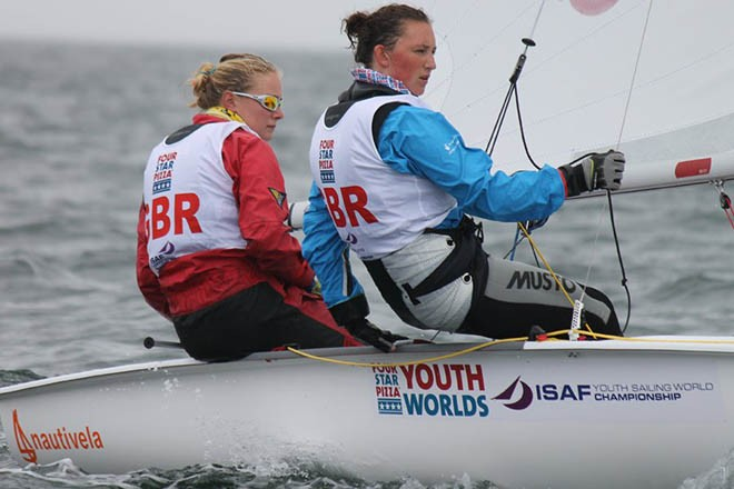 Annabel Vose and Kirstie Erwin (420) - ISAF Youth Sailing World Championships 2012 © ISAF