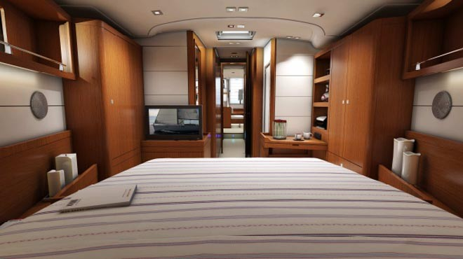 Beneteau Sense 55 - view from the main cabin ©  SW
