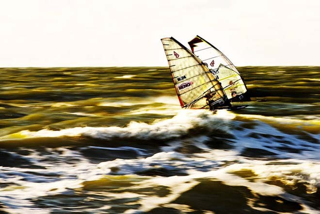 Evening slalom session - 2012 PWA Sylt World Cup ©  John Carter / PWA http://www.pwaworldtour.com