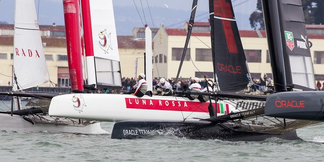 Luna Rossa and Oracle Team USA -  San Francisco  America's Cup World Series Day 2 © Luna Rossa/Studio Borlenghi