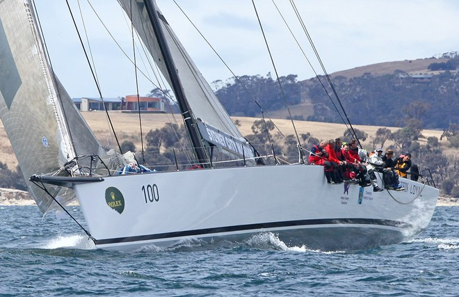 Ragamuffin Loyal a few miles form the finish - Rolex Sydney Hobart Race 2012 © Crosbie Lorimer http://www.crosbielorimer.com