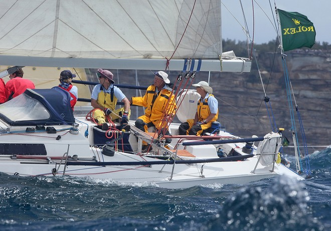 Jim and Mary Holley set off on their last Hobart race. - Rolex Sydney Hobart Race 2012 © Crosbie Lorimer http://www.crosbielorimer.com
