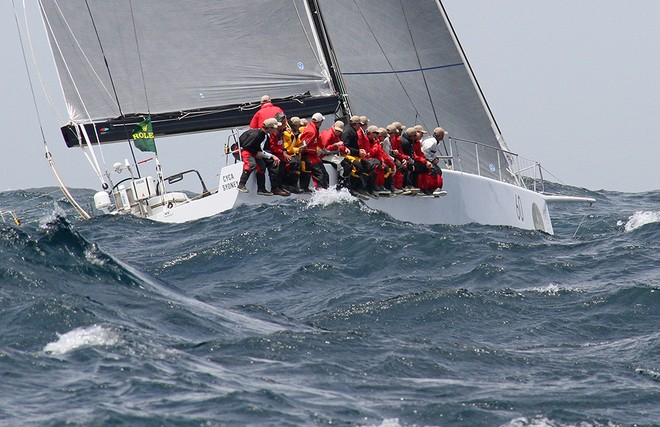 Loki heading down the coast - Rolex Sydney Hobart Race 2012 © Dale Lorimer