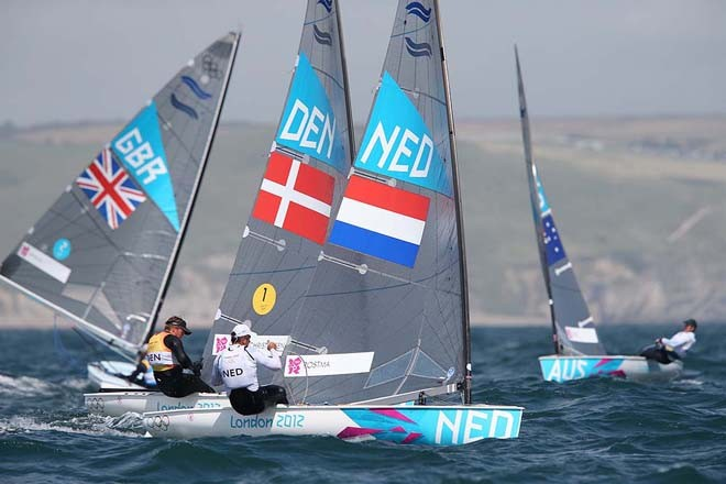 Postma and Hogh-Christensen - London 2012 Olympic Sailing Competition © Francois Richard