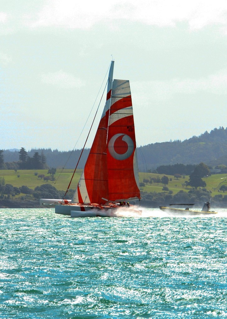 TeamVodafoneSailing finishes the 2012 Coastal Classic in Russell © Steve Western www.kingfishercharters.co.nz