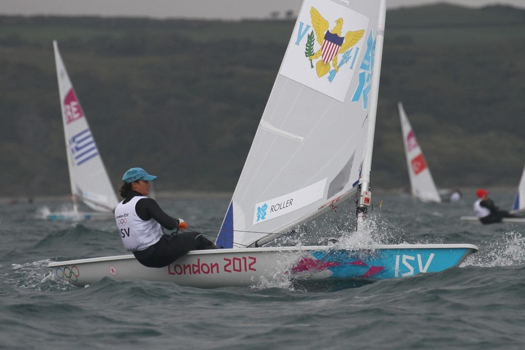 August 1, 2012 - Weymouth, England - Laser Radial Race 5 -  © Richard Gladwell www.photosport.co.nz