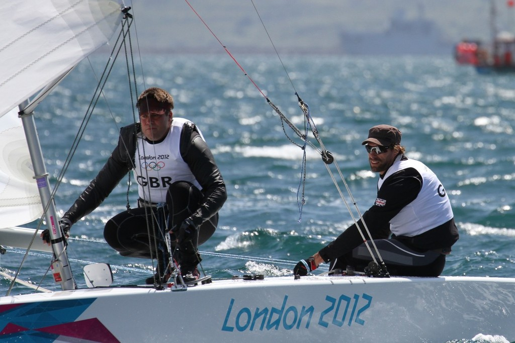 July 28, 2012 Iain Percy and Bart Simpson, GBR Star Two Man keelboat © Richard Gladwell www.photosport.co.nz