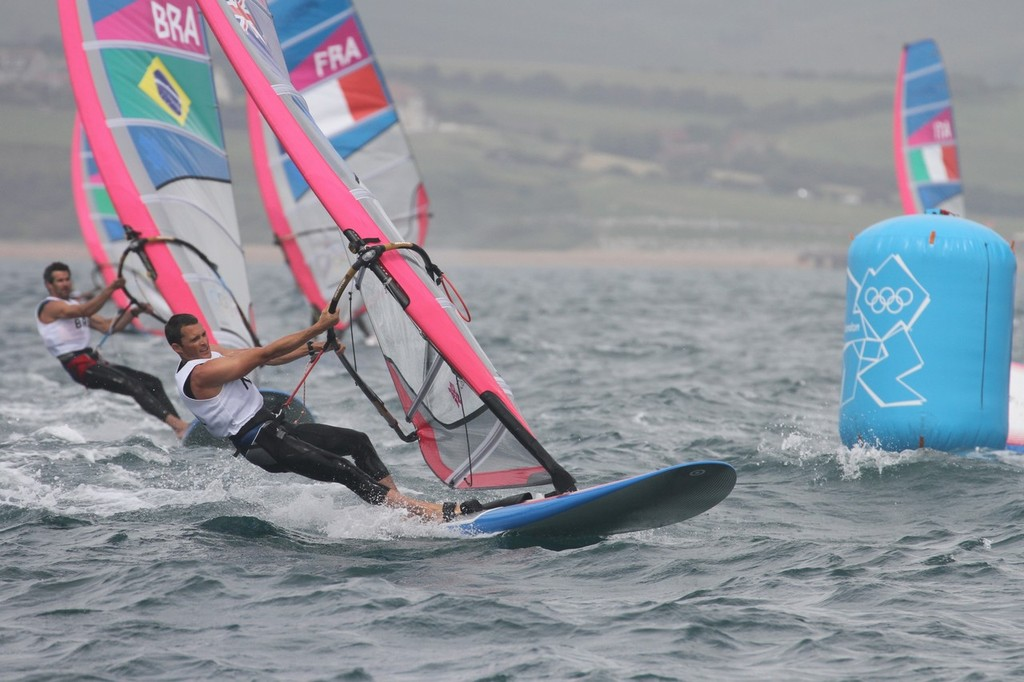 Mens Windsurfer - JP Tobin (NZL)  competing earlier in the 2012 Olympic Regatta © Richard Gladwell www.photosport.co.nz
