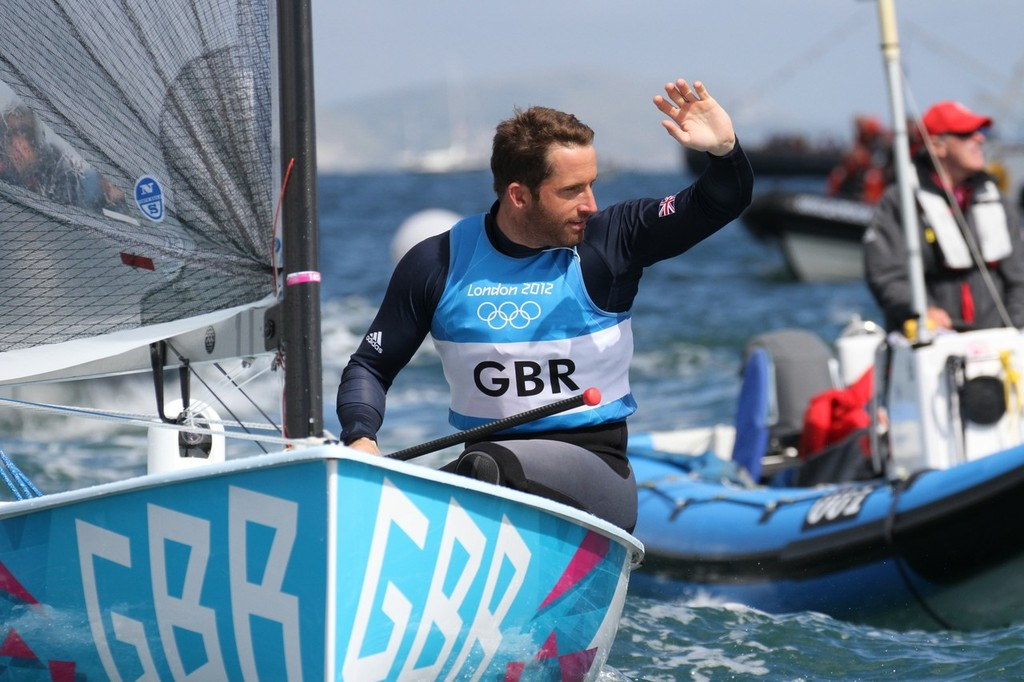 August 5, 2012 - Weymouth, England - Ben Ainslie leaves the Nothe followed by his long-time coach, David Howlett © Richard Gladwell www.photosport.co.nz