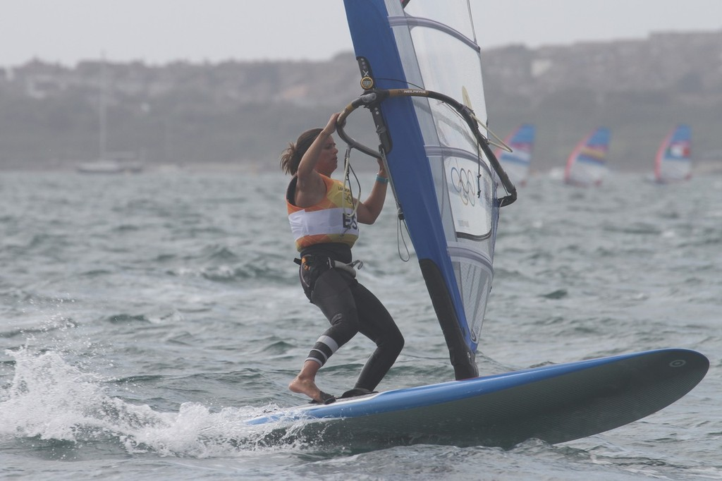 Marina Alabau (ESP) leads the Womens Windsurfing (RS:X) © Richard Gladwell www.photosport.co.nz