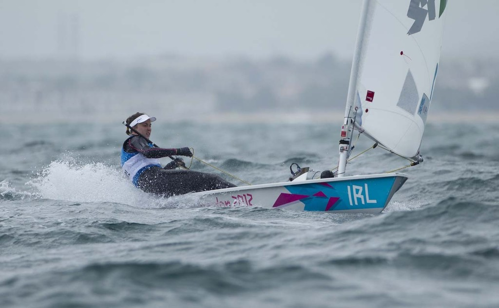 Annalise Murphy (IRL) competing in the Women's One Person Dinghy (Laser Radial) event in The London 2012 Olympic Sailing Competition. © onEdition http://www.onEdition.com