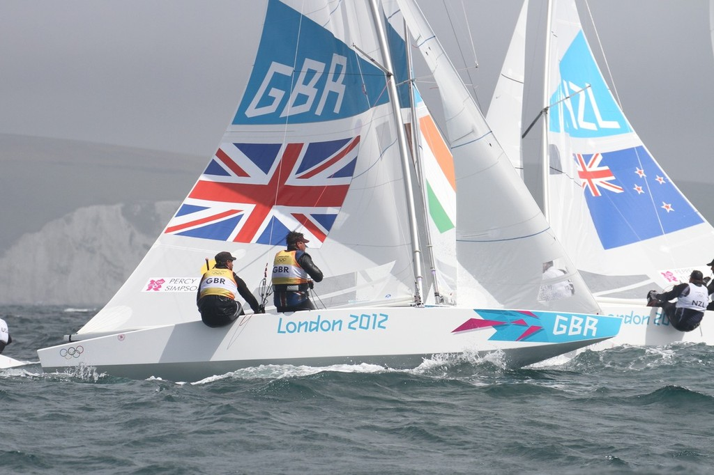 August 1, 2012 - Weymouth, England - Star Iain Percy and Andrew Simpson (GBR) © Richard Gladwell www.photosport.co.nz