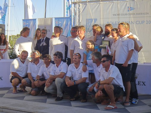 Bronenosec team were awarded the 2012 Rolex Swan Cup © SPBYC