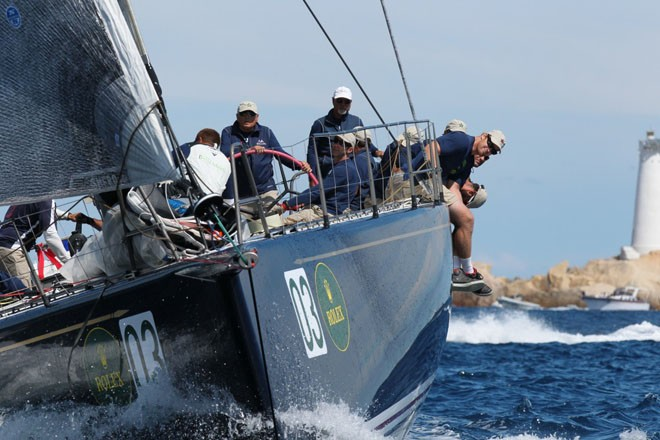 Bella Mente, with owner Hap Fauth at the helm © Tim Wright