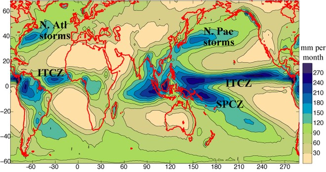 ITCZ - but notice the SPCZ which could also cause him a problem ©  SW