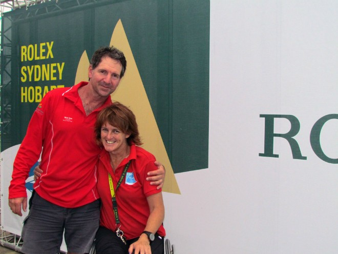 Liesl Tesch and her life partner Mark Thomson © ROLEX-Carlo Borlenghi