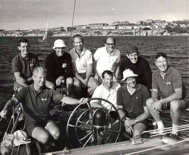 The crew of Ragamuffin No1 - Syd Fischer bottom left, Tony Ellis top left - 2012 Rolex Sydney Hobart Yacht Race © Ragamuffin Loyal https://twitter.com/RagamuffinLoyal