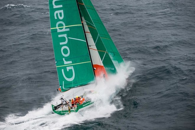 Among others, Dubois managed the Groupama VOR 2011-12 sail order with the help of his team at North Sails in France.<br />   &copy; Paul Todd/Outside Images http://www.outsideimages.com