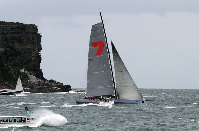Wild Oats leaving Sydney  for Hobart - Rolex Sydney to Hobart ©  Alex McKinnon Photography http://www.alexmckinnonphotography.com