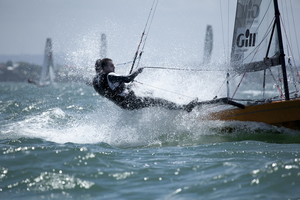 Devine and Furlong punch through the Waterloo Bay Chop in Heat 1  - I14 Australian Championships 2012 © Andrew Gough