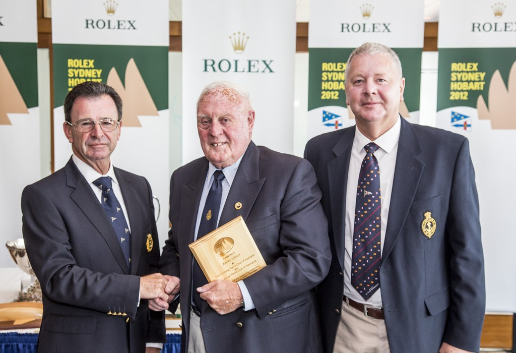 Peter Campbell receives his Meritorious Service Award. Prizegiving of the 68th Rolex Sydney Hobart 2012 ©  Rolex/Daniel Forster http://www.regattanews.com