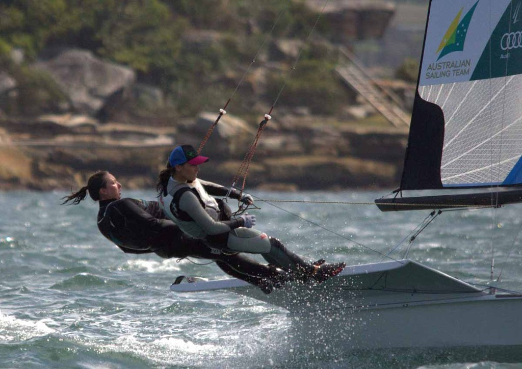Olympian Olivia Price making the move to the 49er FX class - Sail Sydney 2012 © David Price