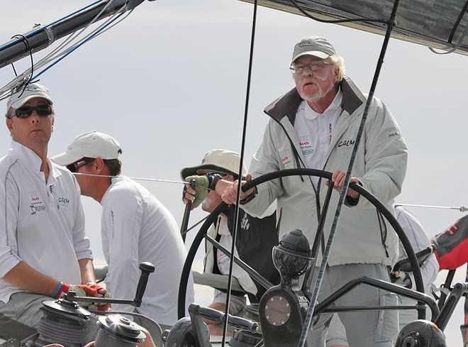 John 'Willow' Williams driving his Calm around the course. - TP52 Southern Cross Cup ©  John Curnow