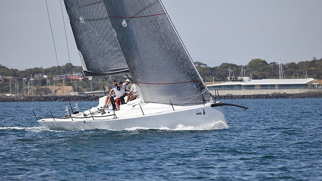 Beau Geste working back up to the top mark in front of Sandringham Yacht Club. - TP52 Southern Cross Cup ©  John Curnow