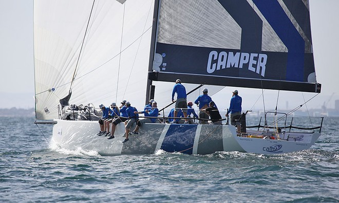 Calm 2 may well have had the greatest speed of all on the water today. - TP52 Southern Cross Cup ©  John Curnow