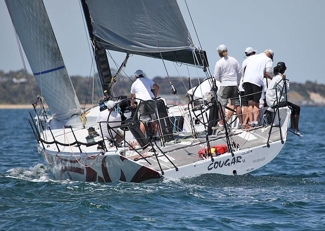 Cougar II from Tasmania set about keeping their position. - TP52 Southern Cross Cup ©  John Curnow