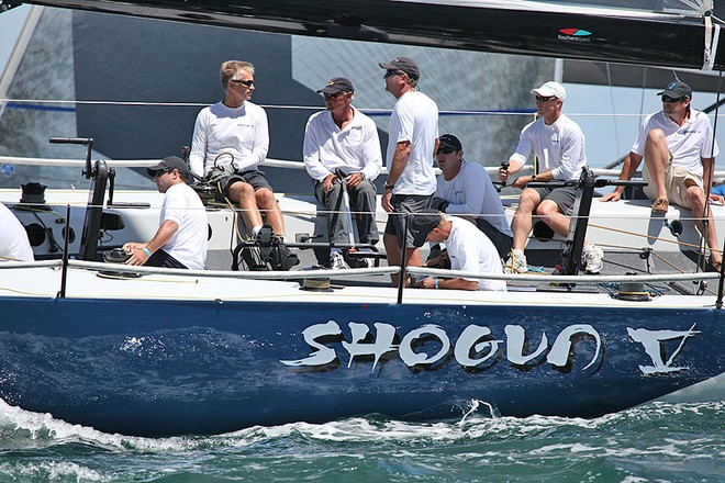 Shogun V were not displaying their recent winning form on the track today. - TP52 Southern Cross Cup ©  John Curnow
