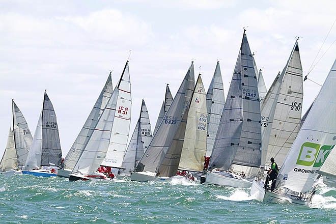 Division 2 Start - Club Marine Series 2012/2013, Round 4, Melbourne, Australia © Teri Dodds http://www.teridodds.com