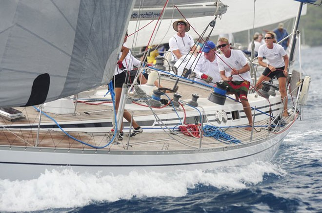 Christian and Lucy Reynolds' Swan 51 Northern Child (GBR) won 1st in class in the 2012 BVI Spring Regatta and the Swan Trophy ©  Todd Van Sickle