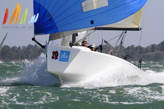 Meanwhile, Kaito on the Melges 24 course had a flyer today - Festival of Sail 2013 © Teri Dodds http://www.teridodds.com