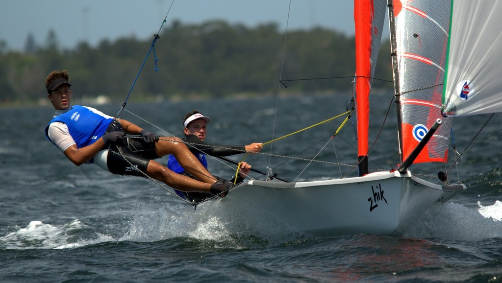 29er AUS 16 Harry Price & Angus Williams Shine On Day 1 Round 2 - Zhik NSW and ACT 9er State Championships © David Price