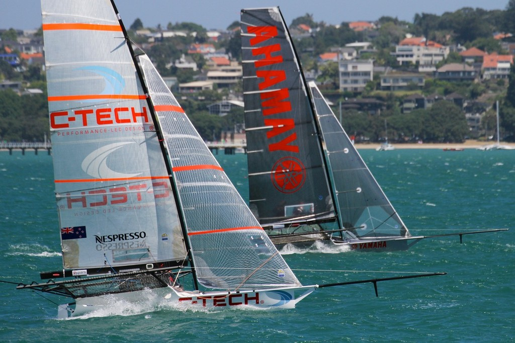 C-Tech and Yamaha - 18ft Skiff Nationals - Day 2, January 20, 2013 © Richard Gladwell www.photosport.co.nz