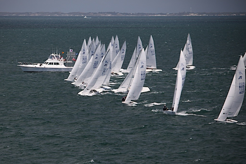 The first general recall in race 3 - Prochoice Safety Gear Etchells Nationals © Bernie Kaaks