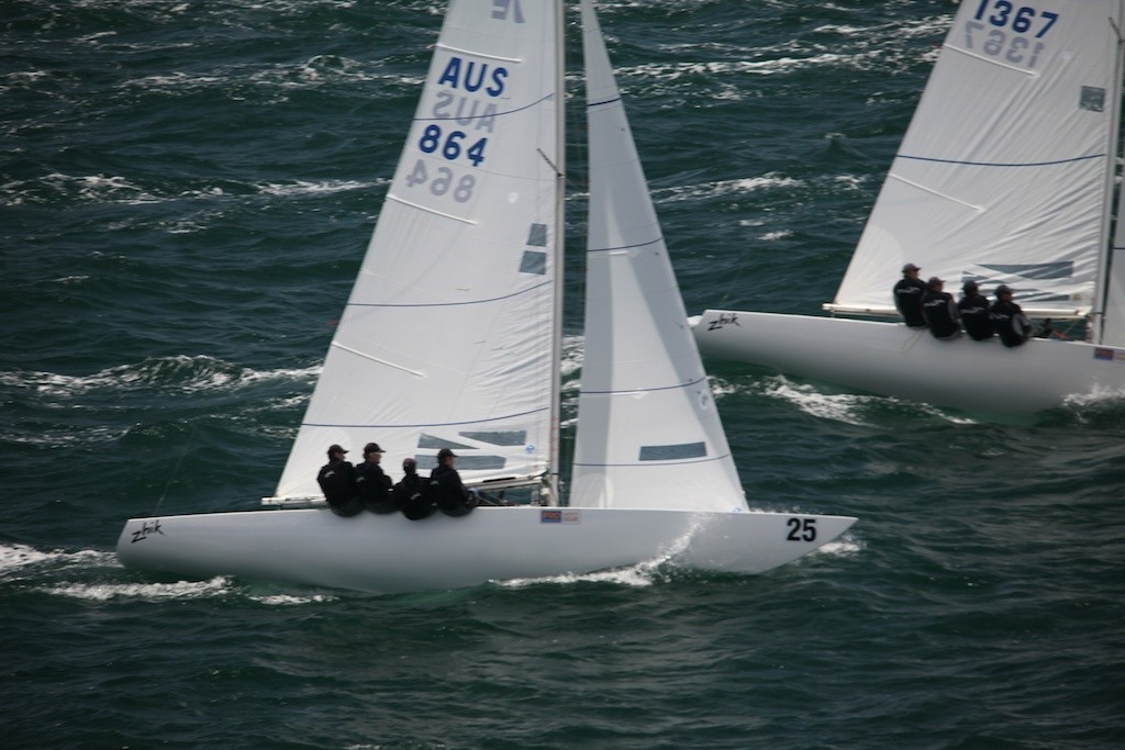Matthew Chew (Gen XY) moved up from third to second overall, after winning race 3. - Prochoice Safety Gear Etchells Nationals © Bernie Kaaks