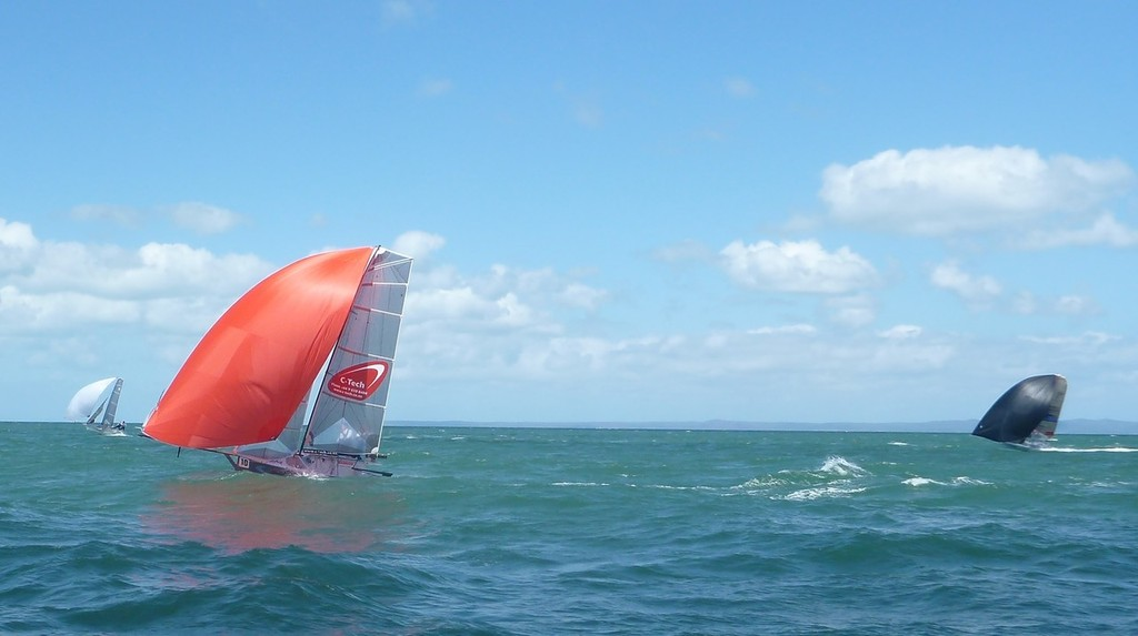 C-Tech from New Zealand pushing hard - 12ft Skiff Interdominions - Invitation Race © Richard Billett