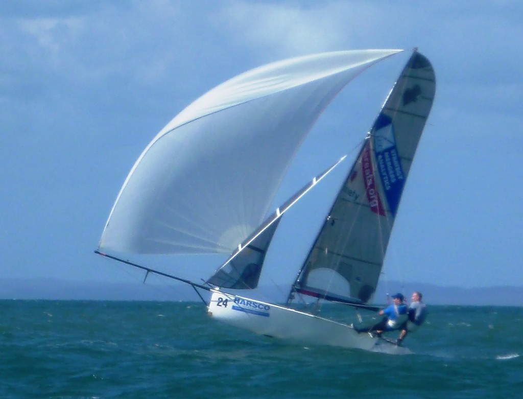 Variety sending it outside Green Island - 12ft Skiff Interdominions - Invitation Race © Richard Billett