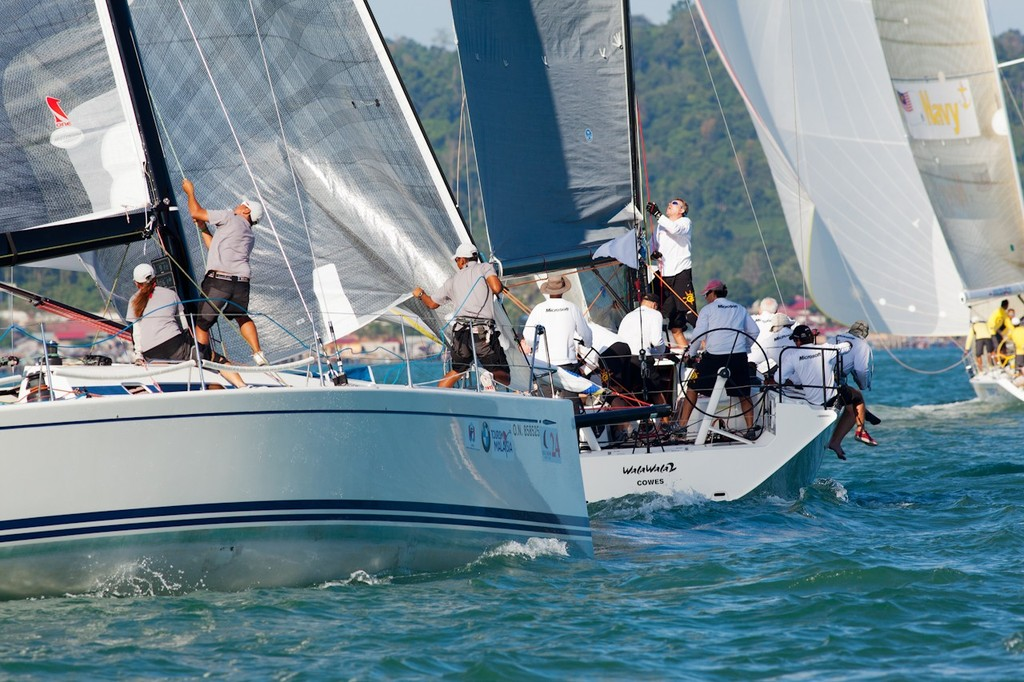 Royal Langkawi International Regatta 2013. Katsu chases Walawala round the top mark. © Guy Nowell http://www.guynowell.com