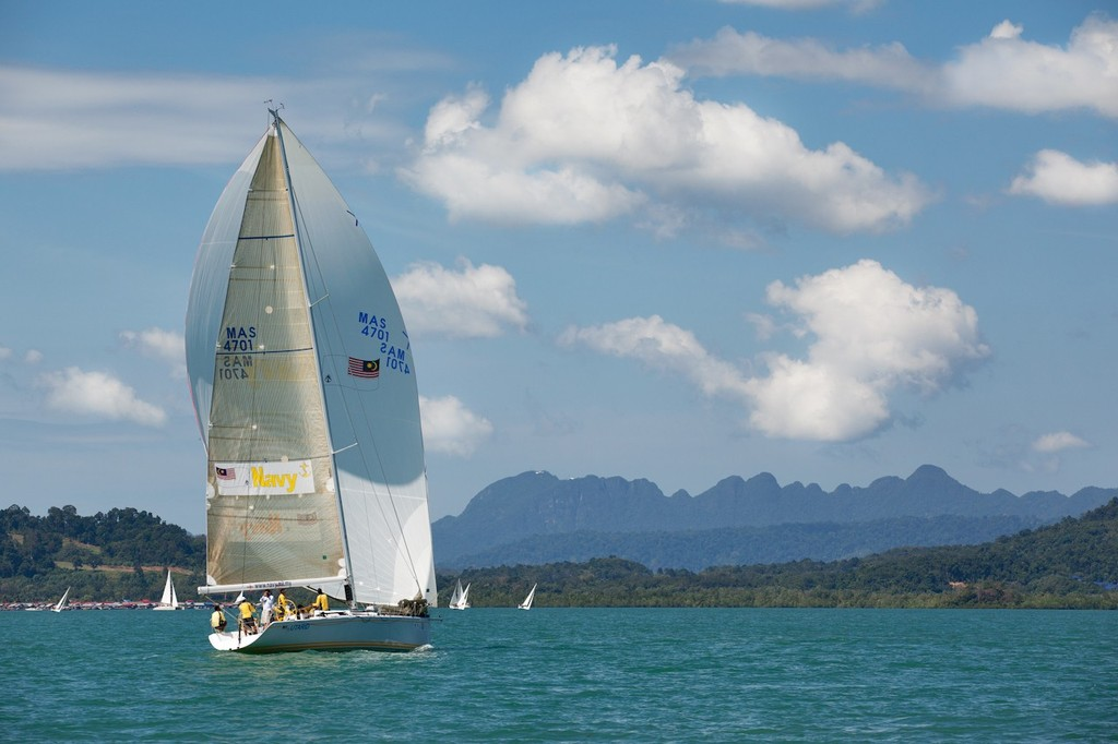 Royal Langkawi International Regatta 2013. Utarid, and the Macinchang Mountains © Guy Nowell http://www.guynowell.com