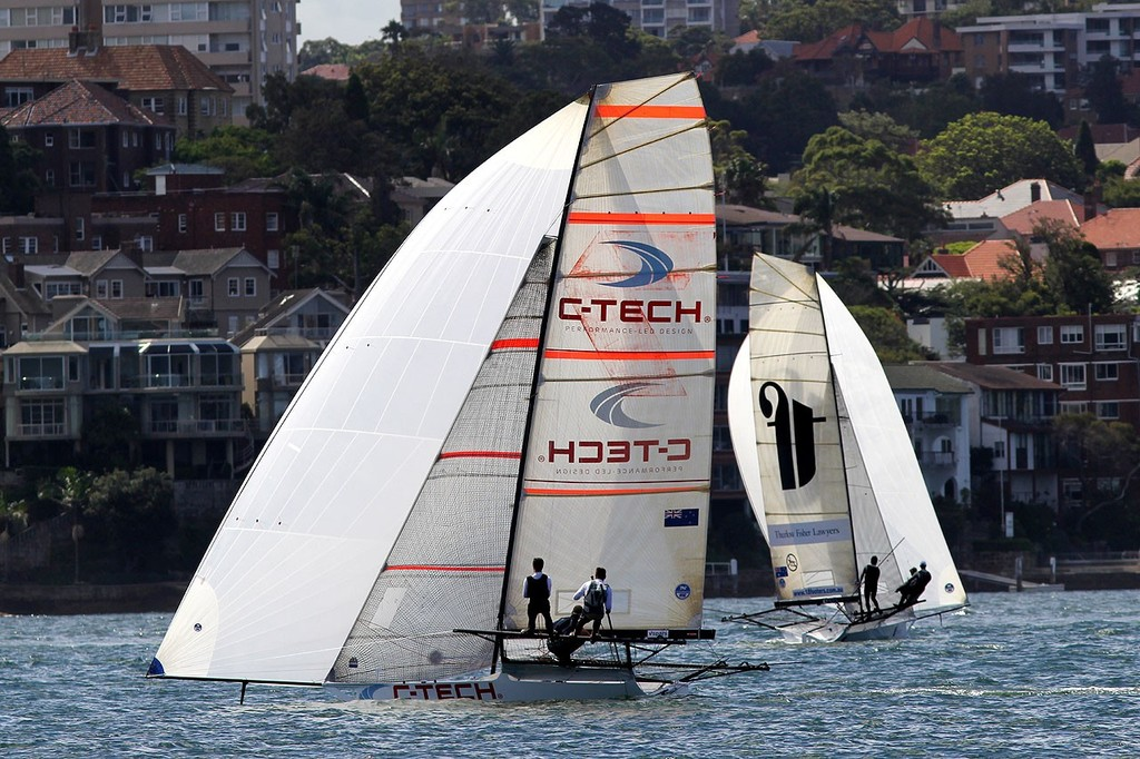 C-Tech -  JJ Giltinan 18ft Skiff Championship 2013, Race 4 © Frank Quealey /Australian 18 Footers League http://www.18footers.com.au