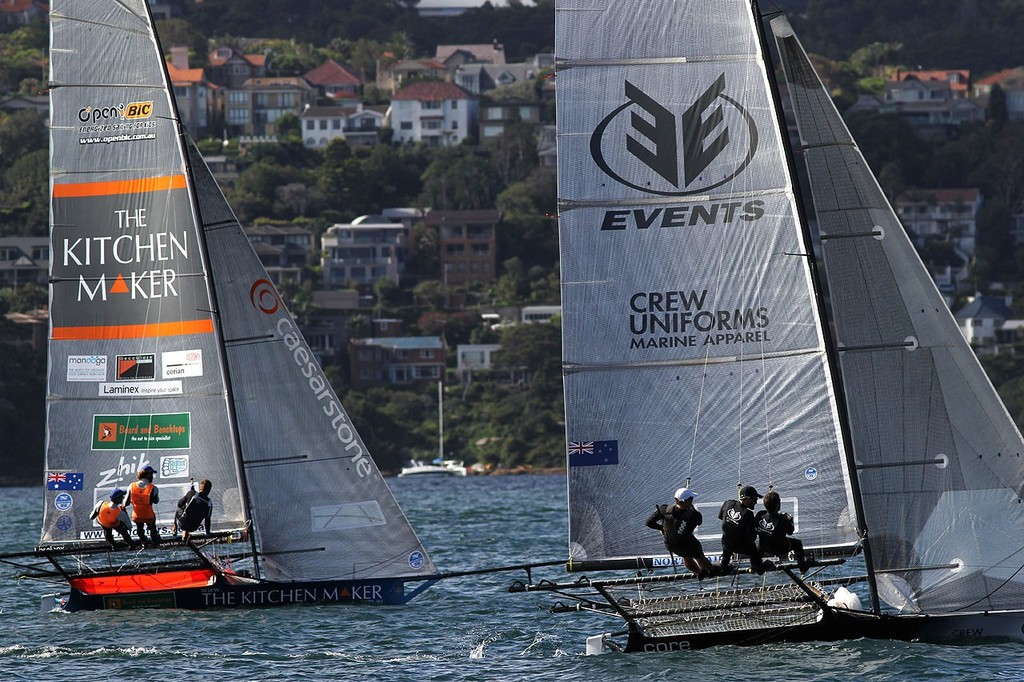 Events Clothinh and Kitchen Maker - JJ Giltinan 18ft Championship 2013, Race 4 © Frank Quealey /Australian 18 Footers League http://www.18footers.com.au