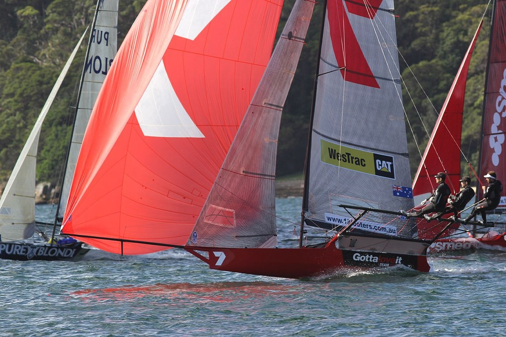 Gotta Love It 7 -  JJ Giltinan 18ft Skiff Championship 2013, Race 4 © Frank Quealey /Australian 18 Footers League http://www.18footers.com.au