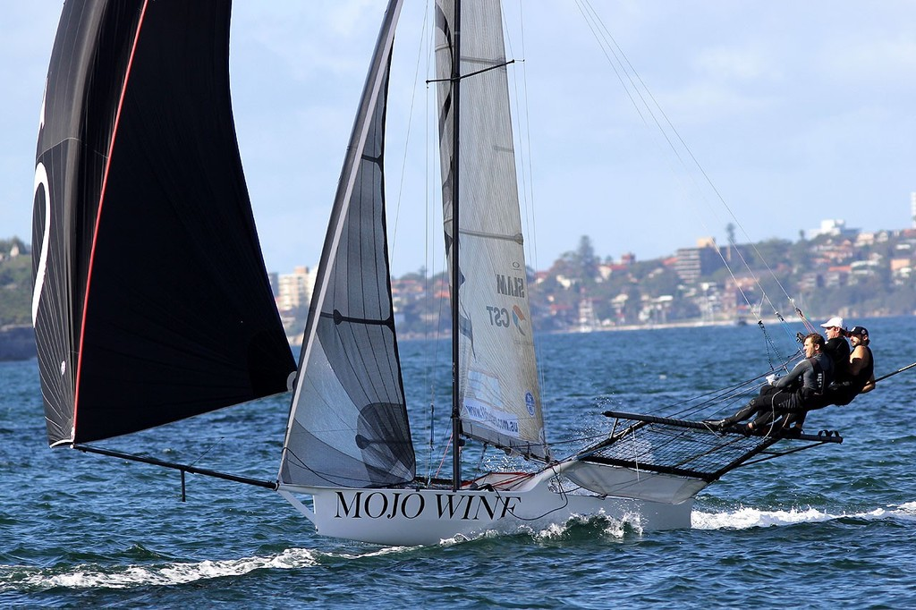 Mojo Wine -  JJ Giltinan 18ft Skiff Championship 2013, Race 4 © Frank Quealey /Australian 18 Footers League http://www.18footers.com.au
