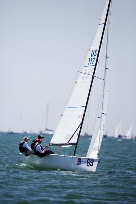 Pieter Taselaar (Newport, R.I.) leads the Viper 640 standings after the penultimate day of the series. ©  Cory Silken